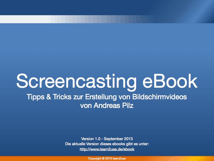 Screencasting ebook