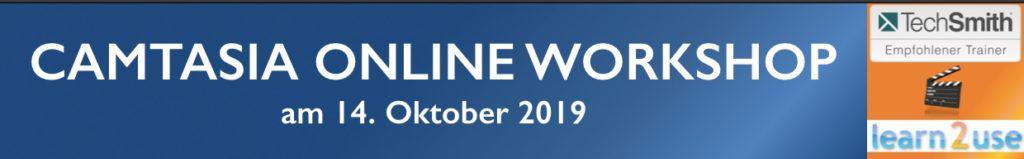 Camtasia Online Workshop Ticket